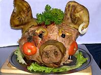 Фаршированная свиная голова