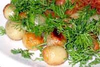 молодой картофель в масле