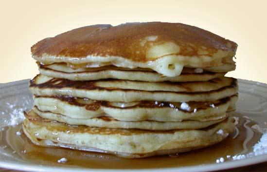 американский завтрак - блины
