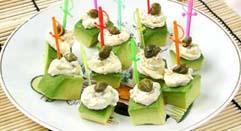 авокадо с пикантным сыром