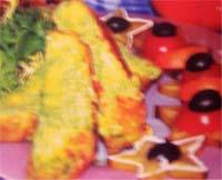 суфле из брокколи с тремя сырами