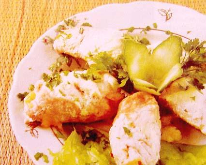 фаршированные луком и сыром свиные рулетики