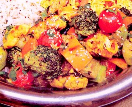 Сабджи Махараджа тушеные овощи с сыром Индия