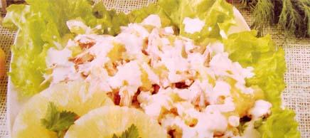 соленая курица с ананасами
