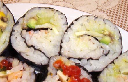 суши классические с креветками