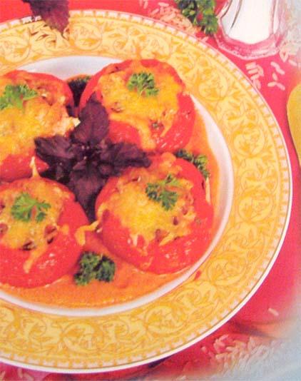 помидоры, фаршированные рисом