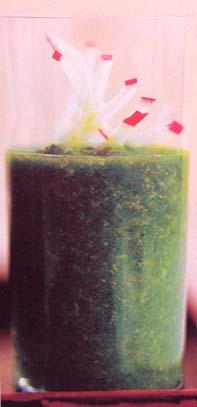 зеленый гаспачо (холодный суп из шпината)