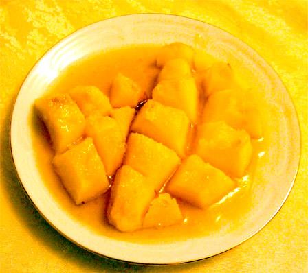 айва, запеченная в меду