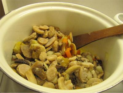 Грибной суп: шаг 3