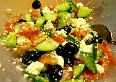 Греческий салат: заправка