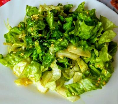 Вкусная простая полезная азиатская заправка для овощного салата